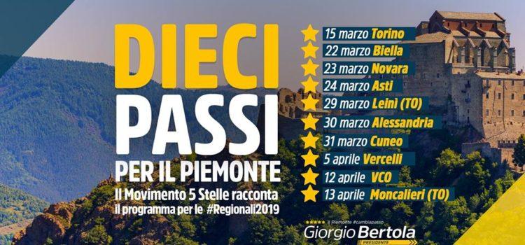 10 Passi per il Piemonte. Tour M5S in tutte le province