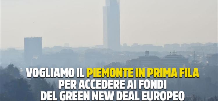 """PIEMONTE OCCUPI LA PRIMA FILA PER ACCEDERE AI FONDI DEL """"GREEN NEW DEAL"""" EUROPEO. FINE DEGLI ALIBI PER CIRIO, INQUINAMENTO CALA SE APPLICATE AZIONI PREVISTE DALL'ACCORDO DEL BACINO PADANO"""