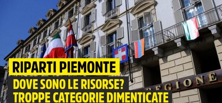 Riparti Piemonte, Cirio e Lega dimenticano interi settori economici e non dicono con quali risorse sosterranno questa misura